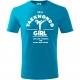 Taekwondo Girl, Tricou Copii Fete Turcoaz cu Imprimeu Alb
