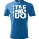 Pumn TKD, Tricou de Copii Albastru Azuriu cu Imprimeu Alb