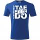 Pumn TKD, Tricou de Copii Albastru Regal cu Imprimeuiu Alb